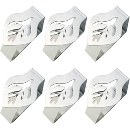 Xkfgcm 4 Pieces Tablecloth Weights Stainless Steel Flower Tablecloth Clips with Clips Tablecloth Clamps Decorative Table Cloth Holder Clips for Indoor Outdoor Home Kitchen Wedding Party Picnic