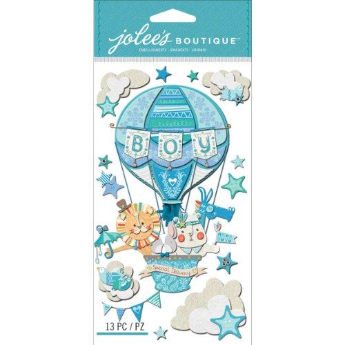 """Jolees Boutique Adesivi 3D per nascita maschietto, con scritta """"Boy Special Delivery"""""""