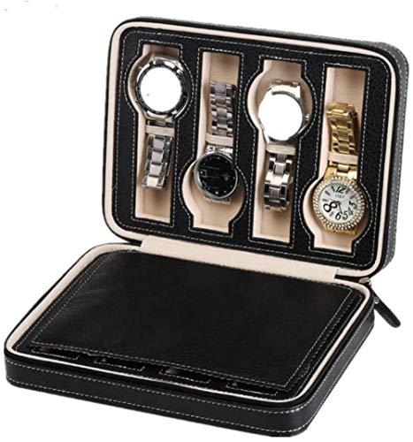 Caja de reloj 8 Caja de reloj con cuero de imitación y delicados patrones de caja de almacenamiento de reloj Colección de organizador de reloj suave