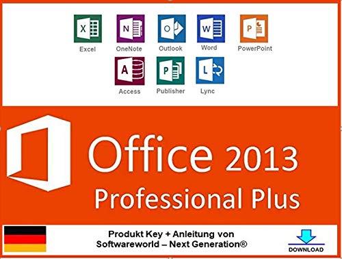 Office Professional Plus 2013 32 /64 bit Produktschlüssel inkl. Anleitung von Softwareworld – Next Generation®