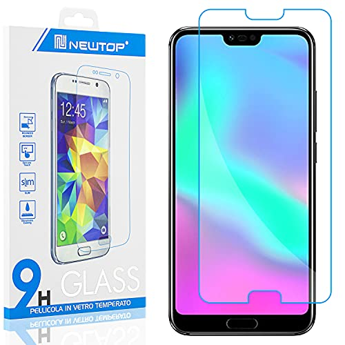 N NEWTOP [1 PEZZO] Pellicola GLASS FILM Compatibile con Huawei Honor 10, Fina 0.3mm Durezza 9H Vetro Temperato Proteggi Schermo Display Protettiva Anti Urto Graffio Protezione
