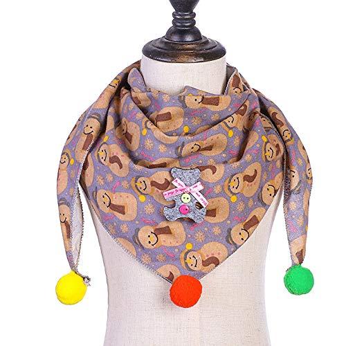 SFBBBO schal Damen Herbst Winter Kinder Schal Triangle Schal Kleinkind Jungen Hals tragen Schal Childbibscarf Schneemann