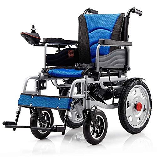 Silla de Ruedas Eléctrica Premium Portátil para Discapacitados de Edad Avanzada, Diseño Artesanal de Aluminio Aeroespacial Silla de Ruedas Eléctrica Plegable Plegable Súper Ligera de Doble Motor List