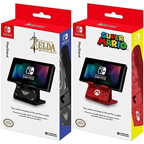 HORI - PlayStand Zelda (Nintendo Switch / Switch Lite) + - PlayStand Super Mario (Nintendo Switch / Switch Lite)
