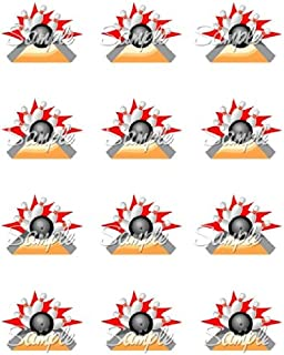 Bowling #1 Edible Cupcake Toppers - Set of 12