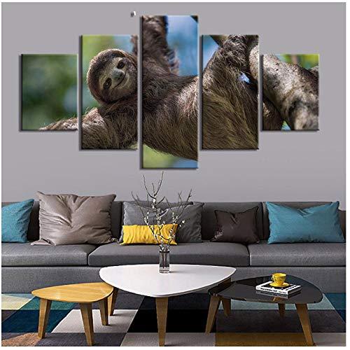 5 Stuks Leuke Luik Poster Print Canvas Schilderij Foto voor Kinderen Kamer Thuis Decoratieve Moderne Muur Kunst -40x60x2 40x80x2 40x100cm (geen Frame)