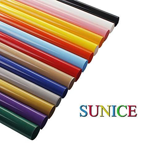 Sunice 14 Verschillende Kleuren Warmteoverdracht Vinyl 21cmx30cm Vel HTV Ijzer op Transfer Papier Bundel Vinyl voor T-Shirt Stof Vinyl