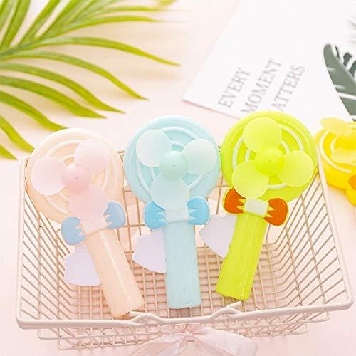 Ventilador de Mano de Dibujos Animados Mini Juguete Lollipop Ventilador de Aire Acondicionado, Ventilador eléctrico Sunshine20