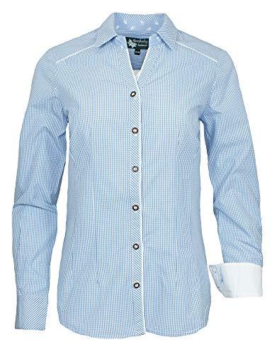 Maddox Dames lange mouwen klederdrachtblouse binnenbrok - geruit blouse voor lederhose - kleurkeuze maat 34-52