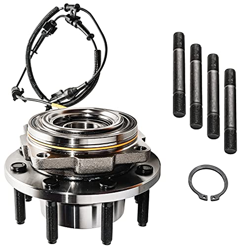 Detroit Axle - Front Wheel Hub & Bearing 515081 Replacement for 2005-2010 Ford F-250 / F-350 Super Duty [SRW 4WD w/ABS-wire]