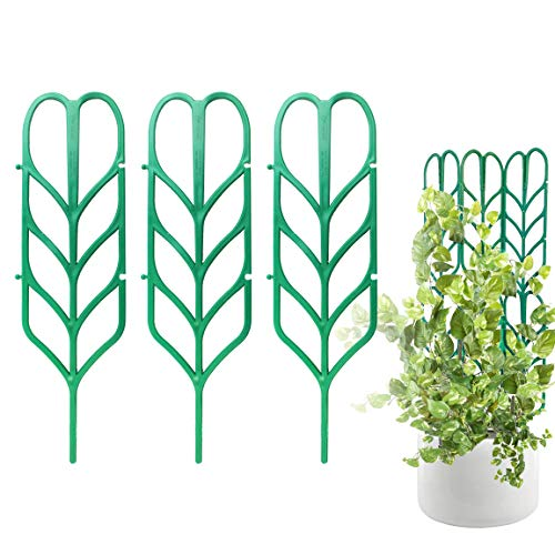 PeerBasics, Indoor Plant Trellis, 3 Pack, Climbing Garden Leaf Shape Supports, for DYI Climbing...