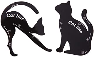 Eyeliner Stencil, Pro 2pcs/set Cat Eyeliner Stencil Maquillaje Eyebrow Modelos Sello Plantilla Tarjeta