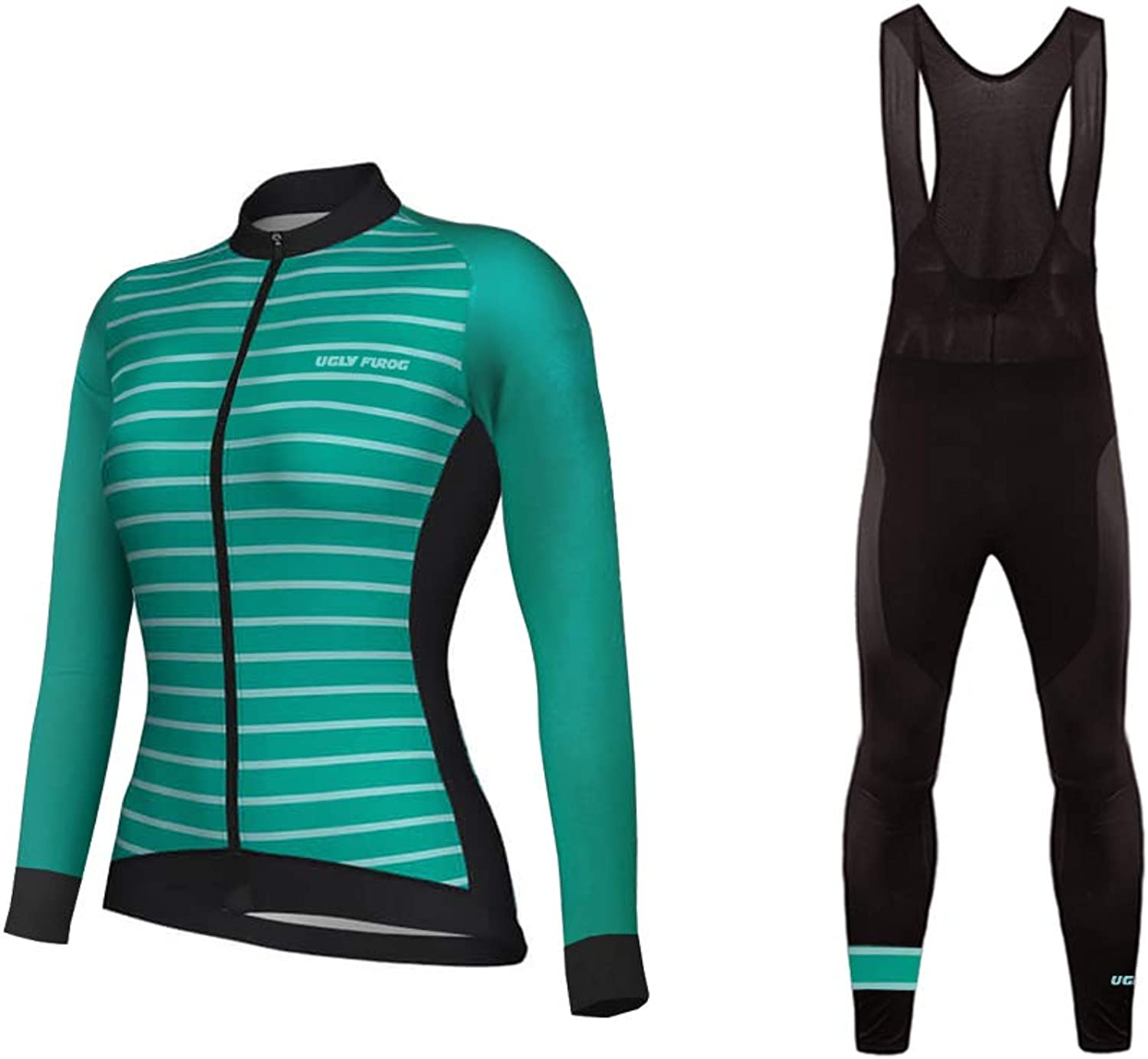 Uglyfrog Winter Thermal Fleece Women Cycling Jersey Suits Sets Gift