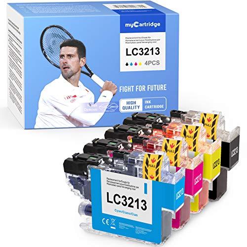 MyCartridge 4 Cartouches d'imprimante compatibles Brother LC-3213 LC-3211 pour imprimante Brother MFC-J491DW DCP-J772DW MFC-J890DW DCP-J572DW MFC-J497DW DCP-J774DW(1 Noir, 1 Cyan, 1 Magenta, 1 Jaune)