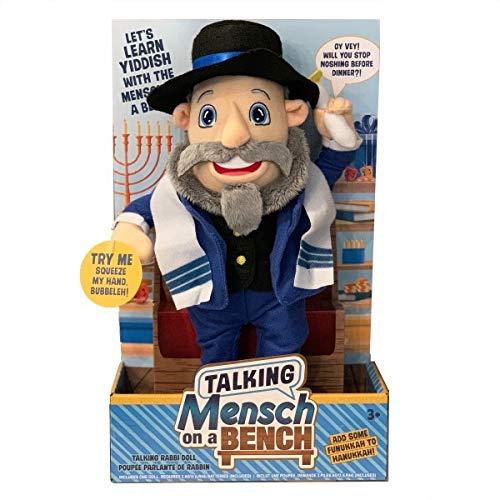 Mensch on a Bench Talking 12″ Doll