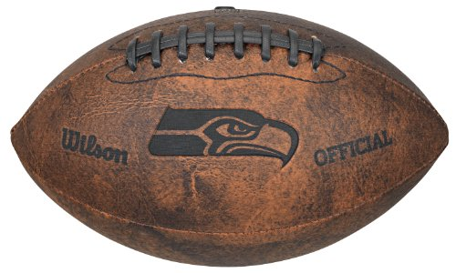 NFL Seattle Seahawks Vintage Throwback Fußball, 22,9 cm