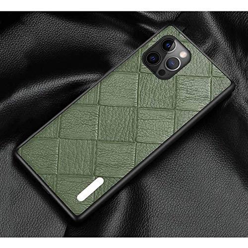 Funda trasera de piel para iPhone 12 Pro Max (2020) de 6,7 pulgadas, todo incluido, a prueba de golpes, protección de pantalla y cámara), color verde