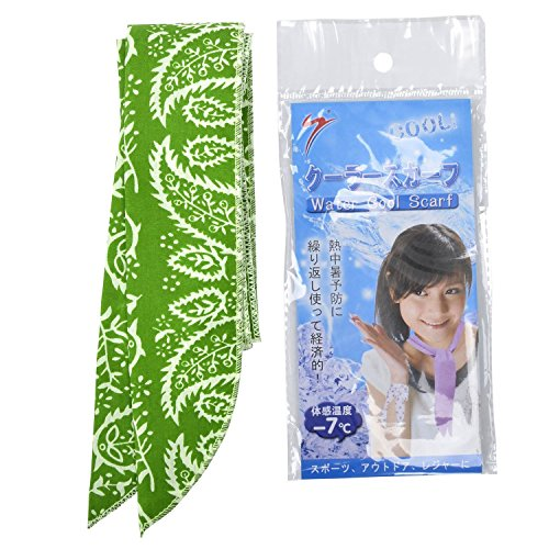 JellyBeadZ Ice Cool Neck Head Wrist Scarf Bandana - Green