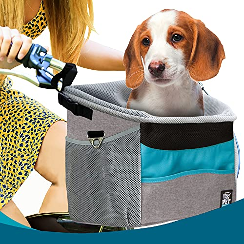 PetLovingly Pet Carrier Bicycle Basket Bag for Dogs