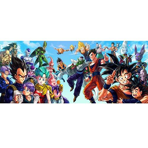 Dragon Ball Z Puzzle De Madera 1000 Piezas Puzzle De Dragon Ball, Puzzle Desafiante para Niños Y Adultos,Juegos De Rompecabezas para La Damilia,Juguetes Educativos(50X75cm,3
