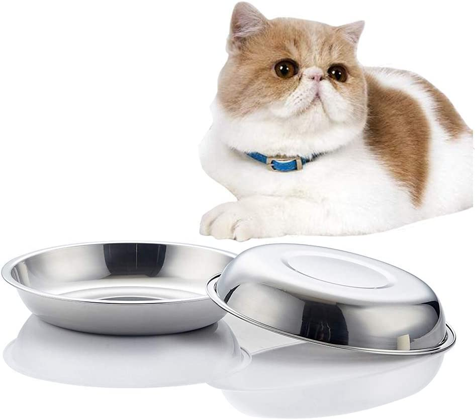 VENTION Stainless Steel San Francisco Mall OFFicial store Whisker Relief Shallow Me Cat Food Bowl