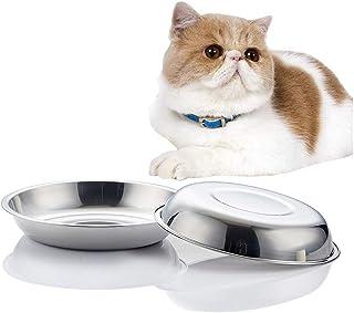FengDing Plato de Comida para Gatos, Plato para Gatos Poco Profundo, Cuencos de Comida para Perros de 15 oz, diámetro Exterior. 6 7/10 Pulgadas, Juego de Dos