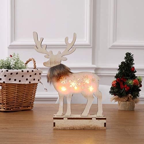LLZGPZXYD Xmas Lights Renna Di Legno Deer Night Light Incandescente Luminoso Per Il Regalo Di Natale Home Decor Store Decorazione Della Finestra Illuminazione
