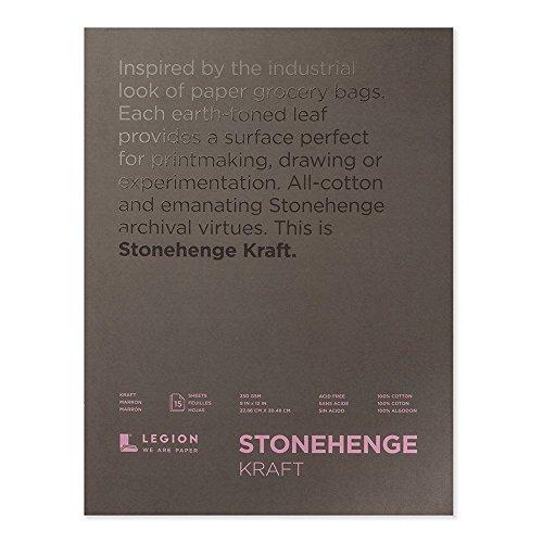 Legion Stonehenge Block (L21 STP250KR912), 22,9 x 30,5 cm, Kraftpapier, 15 Blatt