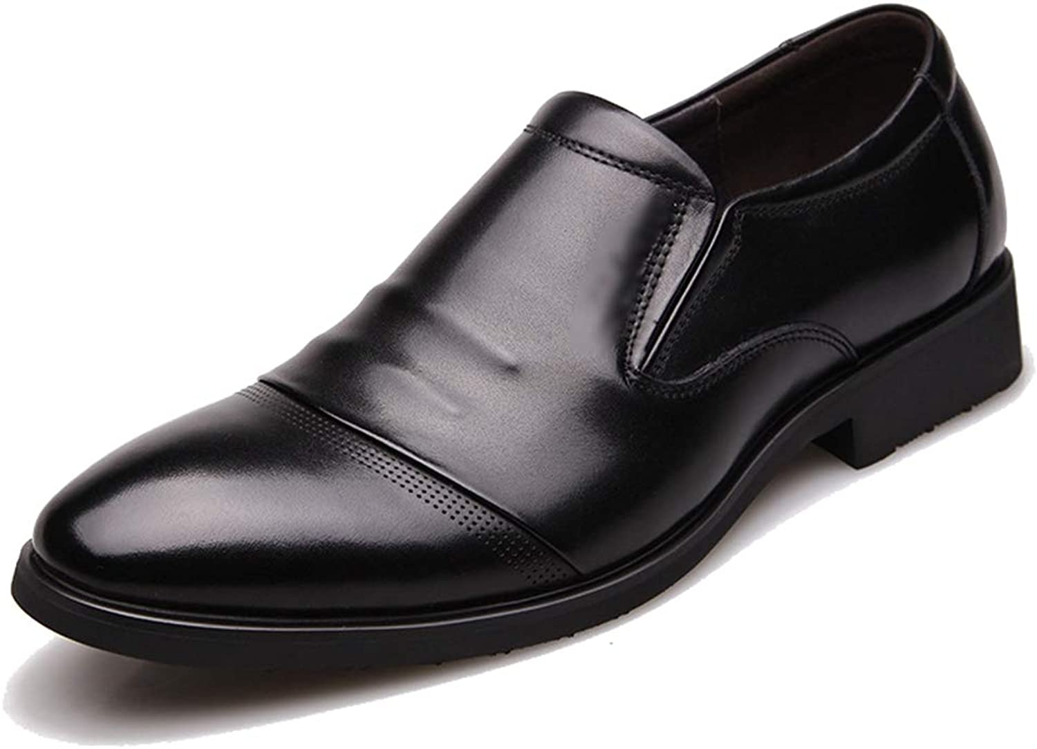 Phil Betty Mens Oxford shoes Black Slip-On Breathable Fashion Business Casual Formal shoes