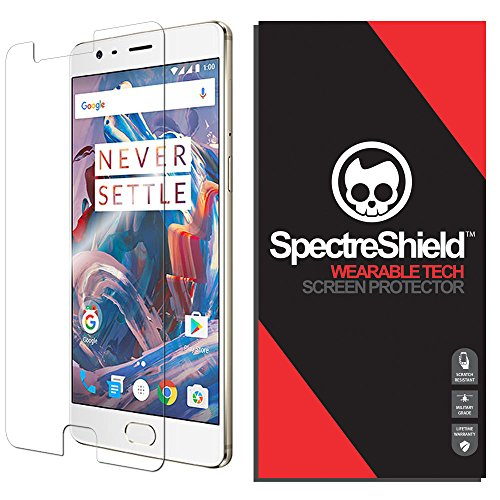 Spectre Shield Screen Protector for OnePlus 3T Accessory OnePlus 3T Case Friendly Full Coverage Clear Film