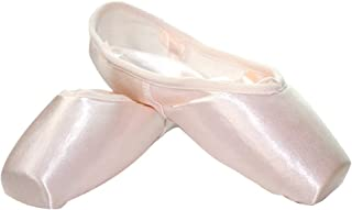 Danzcue Women's Pointe Shoes Flexible Soft Shank with Ribbon