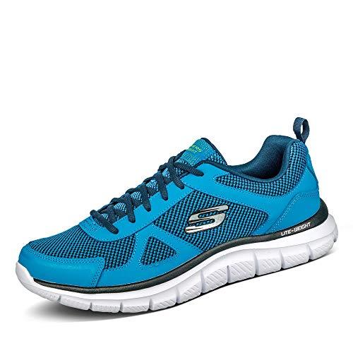 Skechers Scarpa da Running Uomo Track - BUCOLO 52630   BLLM Blu, Colore:Blau, Taglie da Uomo:46