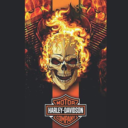 Harley Davidson Skull Cuaderno Calendario 2021 Regalo