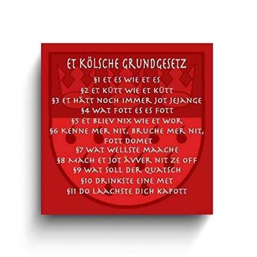 Kölsche Grundgesetz, Köln Fotos auf Holz, Holzbild, Handmade, verschiedene Größen