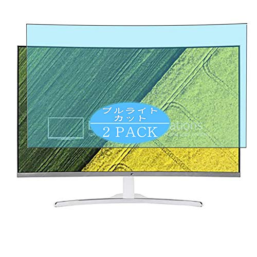 [2 Pack] Synvy Anti Blue Light Screen Protector Compatible with Acer ED322Q Awmidx / ED322QAwmidx 31.5' Display Monitor Screen Film Protective Protectors [Not Tempered Glass]