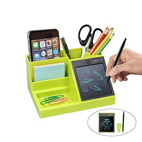 Multifunktionaler Schreibtisch Organizer mit LCD-Schreibtafel für Stifte/Visitenkarten / Handy/Bürobedarf Aufbewahrung