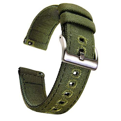 Axcellent Canvas Strap for Huawei Watch GT, 22MM Correas de Tela para Reloj de Pulsera con Cierre rápido para Huawei Watch 2 Classic,Gear S3 Frontier /S3 Classic,Gear 2,Pebble