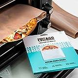 CELI&GO Bolsa para Hornear Pizza - Pack de 1 Bolsa con Solapa Reutilizable,...