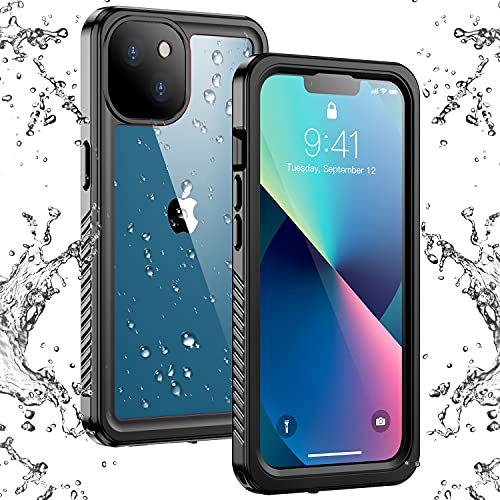Temdan iPhone 13 Case Waterproof, Built in Screen Protector Full Body Rugged Heavy Duty Protection Anti-Scratched Shockproof Protective...