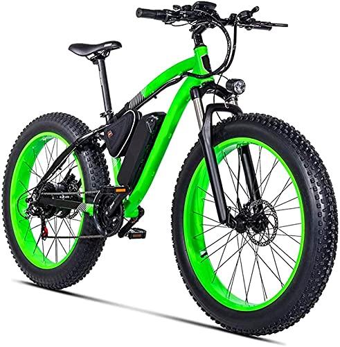 CASTOR Bicicleta electrica Adultos Nieve eléctrica Bicicleta, Motor 500W 26 Pulgadas 4.0 Neumáticos grasos Bicicleta de Playa 21 Velocidad Dual Disc Frenos Unisex