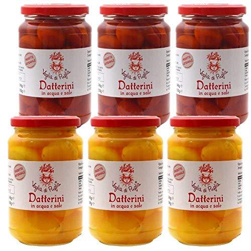 Voglia Di Puglia Datterini Rossi E Gialli Senza Conservanti Gluten Free 6 Barattoli 300 Grammi