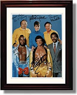 Framed Cast of Rocky III Autograph Replica Print - Rocky III