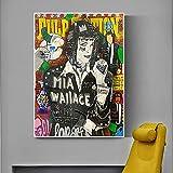 Yegnalo Graffiti Pop Novel Movie Posters e Impresiones en Lienzo Sala de Estar Decoración del hogar Cuadros artísticos de Pared