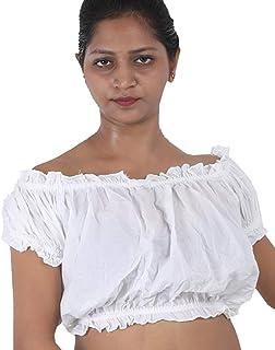 Wevez Women's Tribal Cotton Puff Top