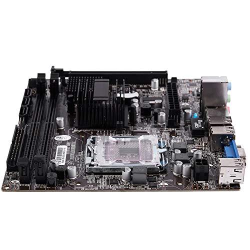 Shumo G41 771/775 Pin PráCtico Soporte de Placa Base de Computadora de Escritorio para CPU Xeon 771 Pin/Core 775 Pin con SATA 2 USB 2.0 DDR3 1333 Placa Base de Doble Canal para Intel