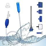 AISHNA Juego de limpieza para acuario, cambio de agua y accesorios 5 en 1 para el cambio de agua y limpiador de arena, limpieza de grava.