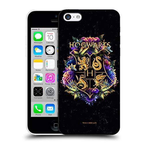 Head Case Designs Oficial Harry Potter Escudo Hogwarts 1 Reliquias de la Muerte XXXI Carcasa rígida Compatible con Apple iPhone 5c