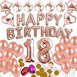 DANXIAN 18 Ans Anniversaire Décorations Or Rose Ballons Décorations Aluminium Happy Birthday Bannière Fournitures de Fête Kit