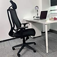 【ERGONOMIC OFFICE CHAIR】:Featuring reliable ergonomic support with lumbar support and along with the adjustable headrest provides adequate support for your cervical and lumbar spine , helping you been in right sitting posture, and reducing the injuri...