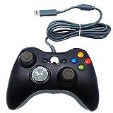 Bequemer Game Controller, kabelgebunden, für Xbox 360,PC, MAC, Schwarz